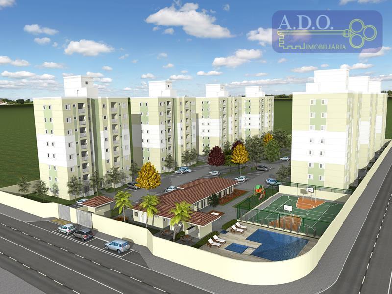 Apartamento  residencial à venda, Condominio Praça das Flores Jardim Santa Izabel, Hortolândia.