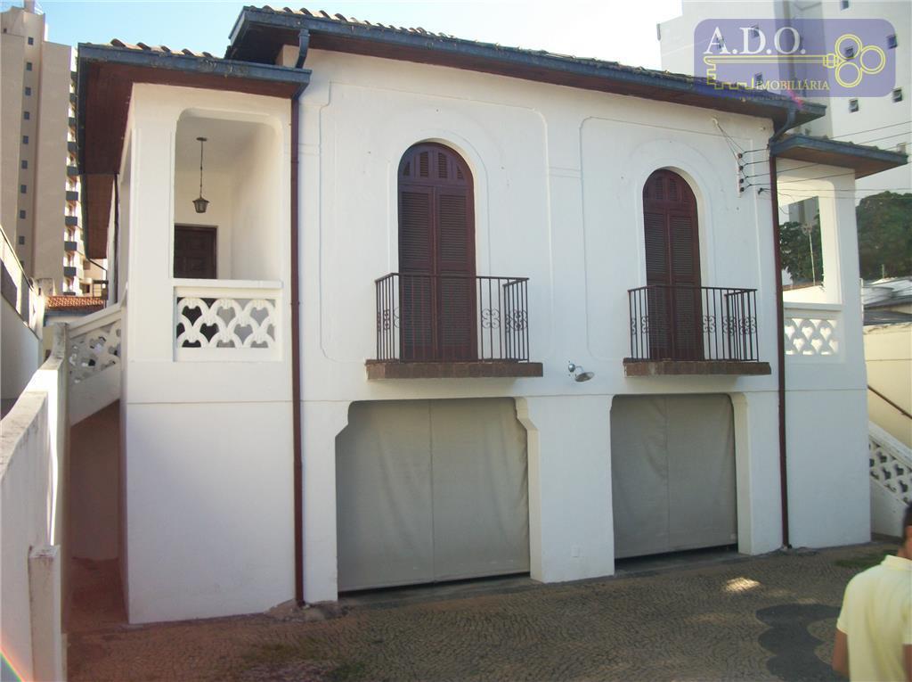 Casa  residencial para locação, Vila Itapura, Campinas.
