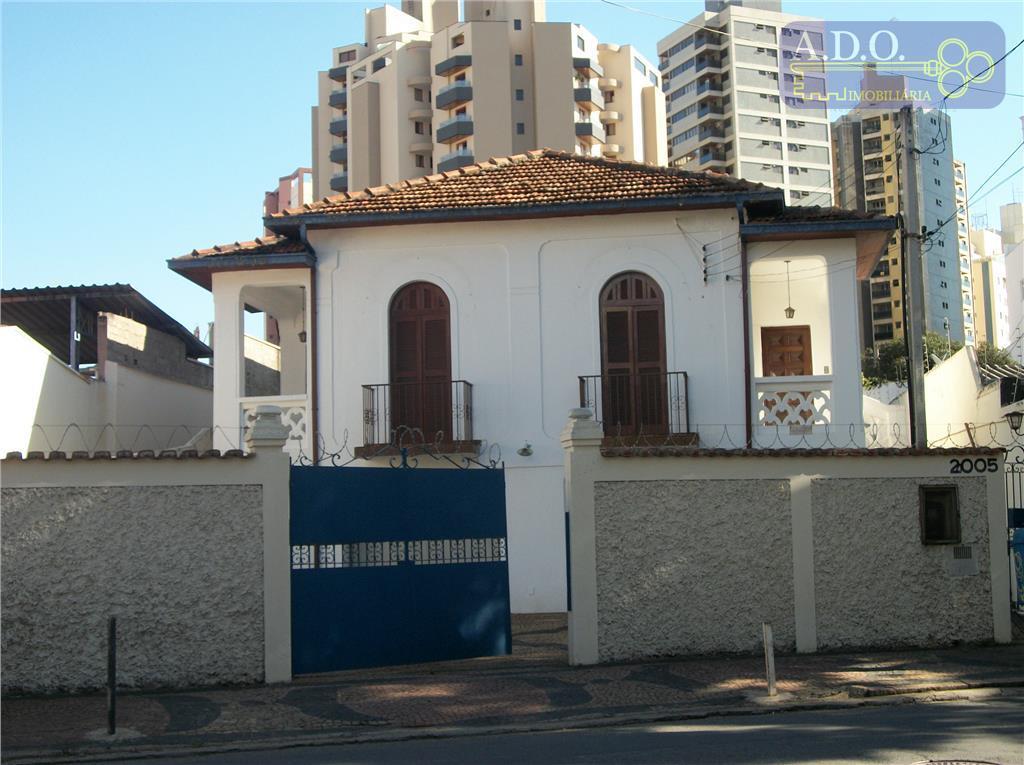 casa comercial/ avenida francisco glicério /9 salas amplas; 3 banheiros; edicula; garagem para 10 carros;próximo a...