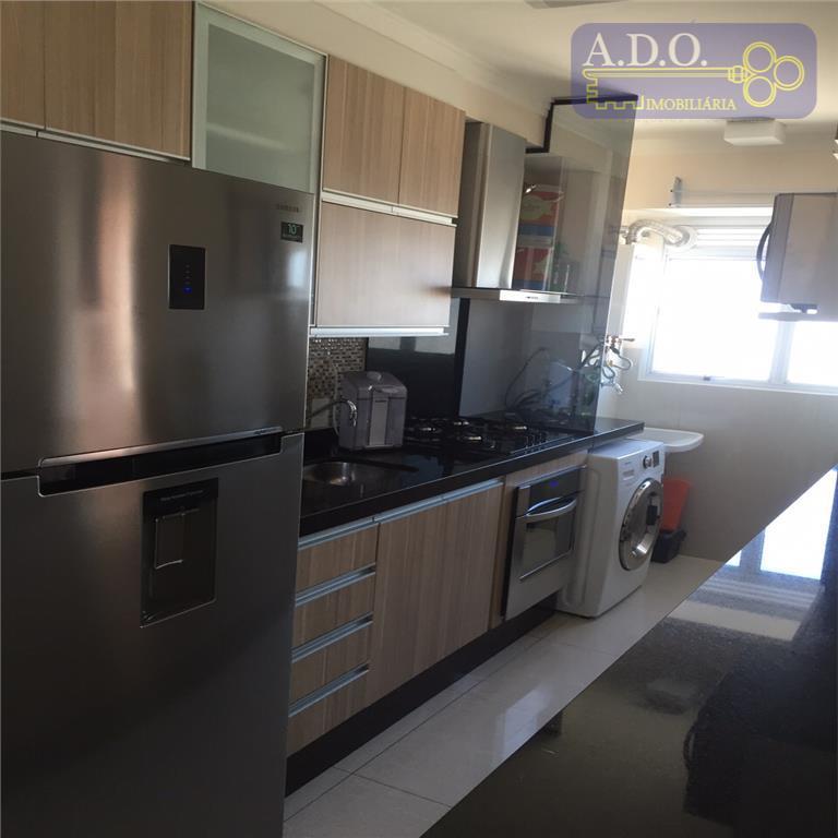 ótimo apartamento todo mobiliado.*2 dormitórios com armários embutidos, 1 banheiro social c/ aquecedor a gás, sala...