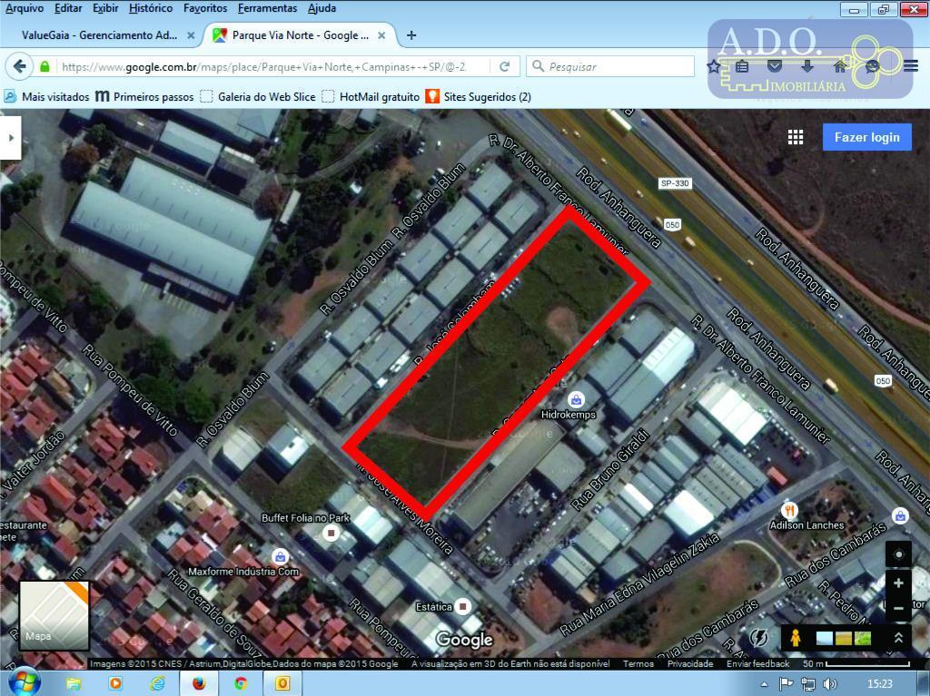 quadra inteira a venda no preço de r$ 800,00 o m².zoneamento 14 - industrialfrente rodovia anhangueralotes...