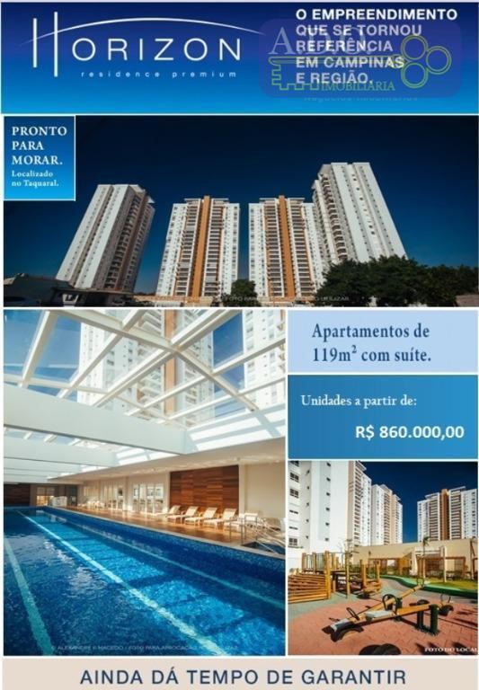 Apartamento  residencial à venda, Horizon, Taquaral, Campinas.