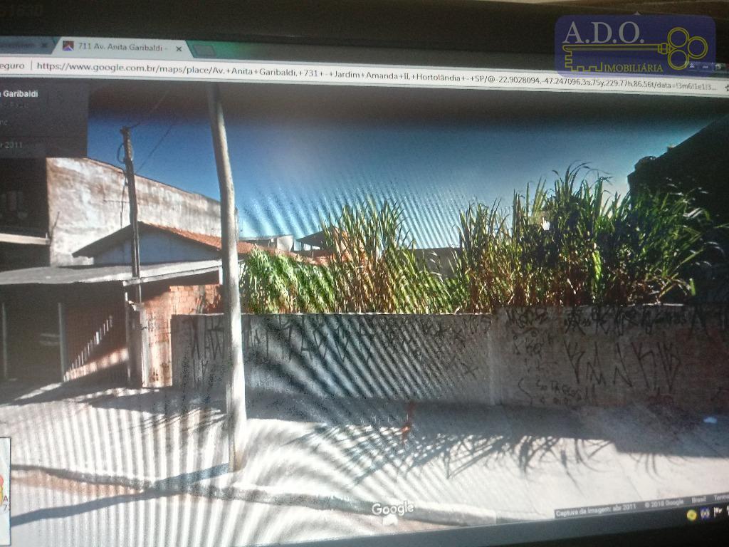 vendo ou alugo- terreno comercial de 250m2; plano; jardim amanda / avenida anita garibaldi/ aceito casa...