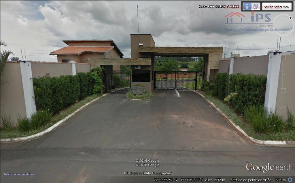 Terreno residencial à venda, Condomínio Residencial Portinari, Campinas.
