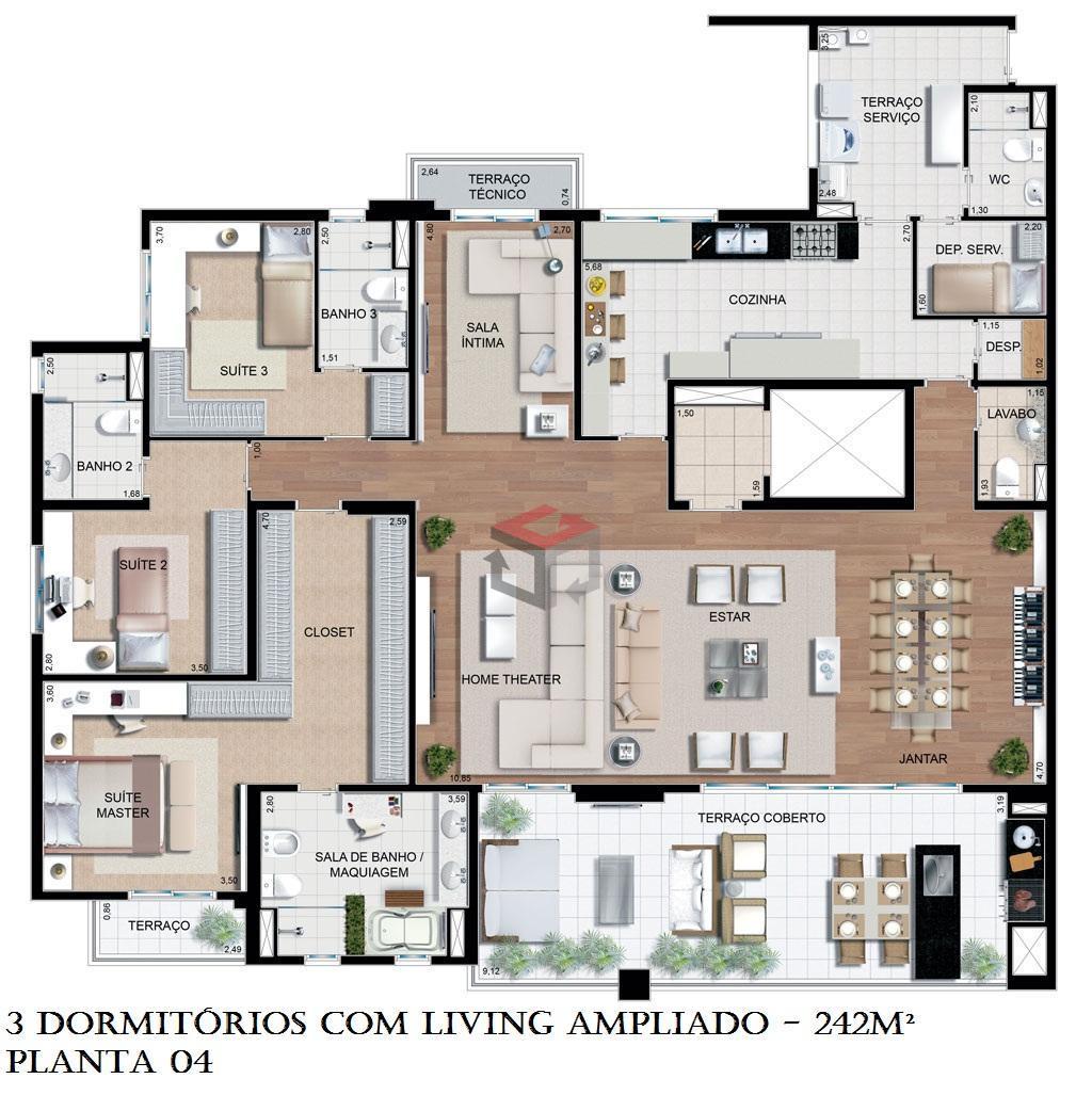 Cobertura de 4 dormitórios à venda em Nova Petrópolis, São Bernardo Do Campo - SP