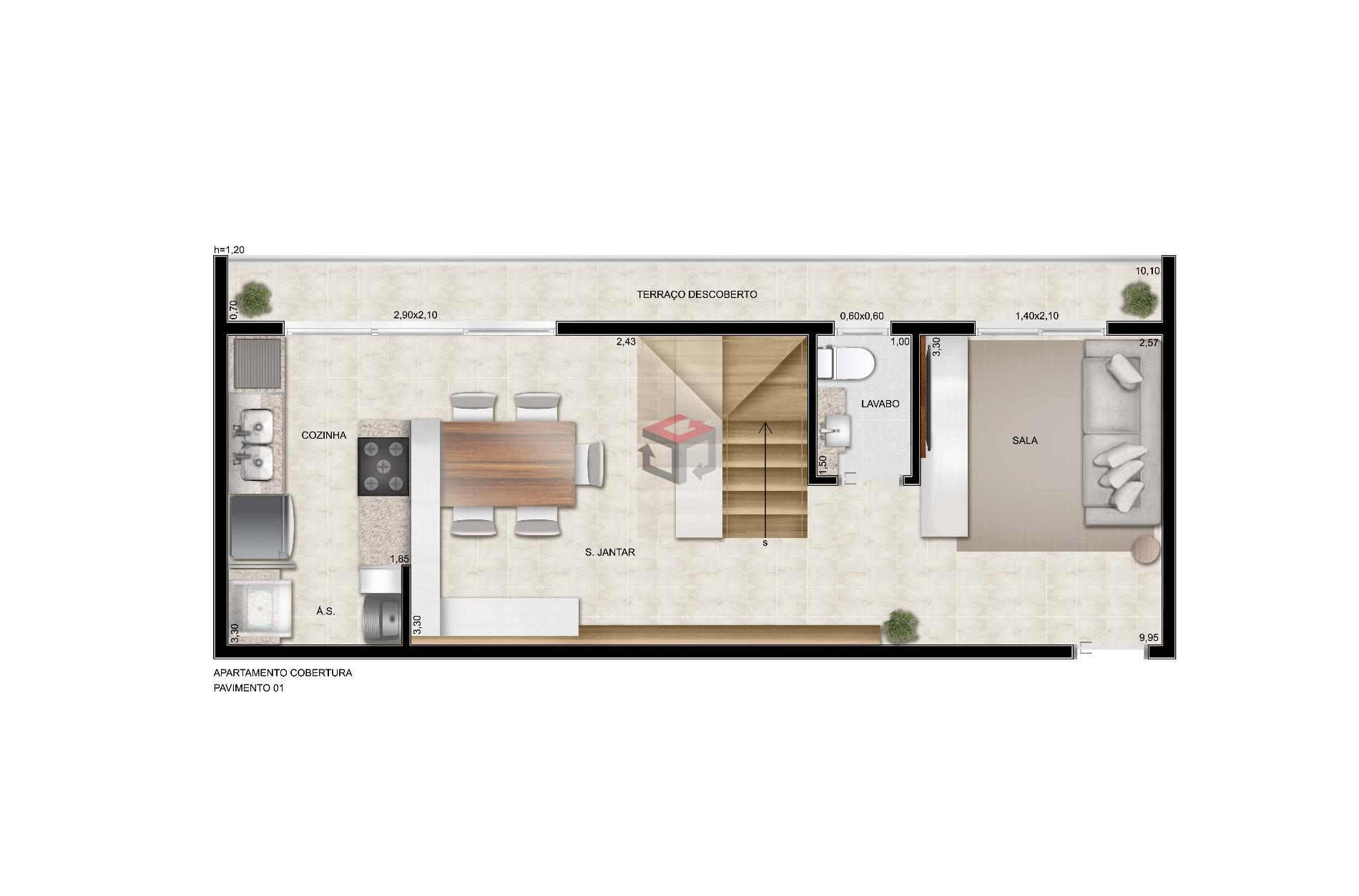 Cobertura de 2 dormitórios à venda em Baeta Neves, São Bernardo Do Campo - SP