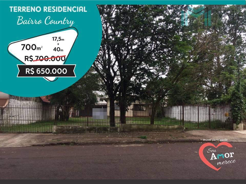 Terreno residencial à venda, COUNTRY, Cascavel - TE0237.