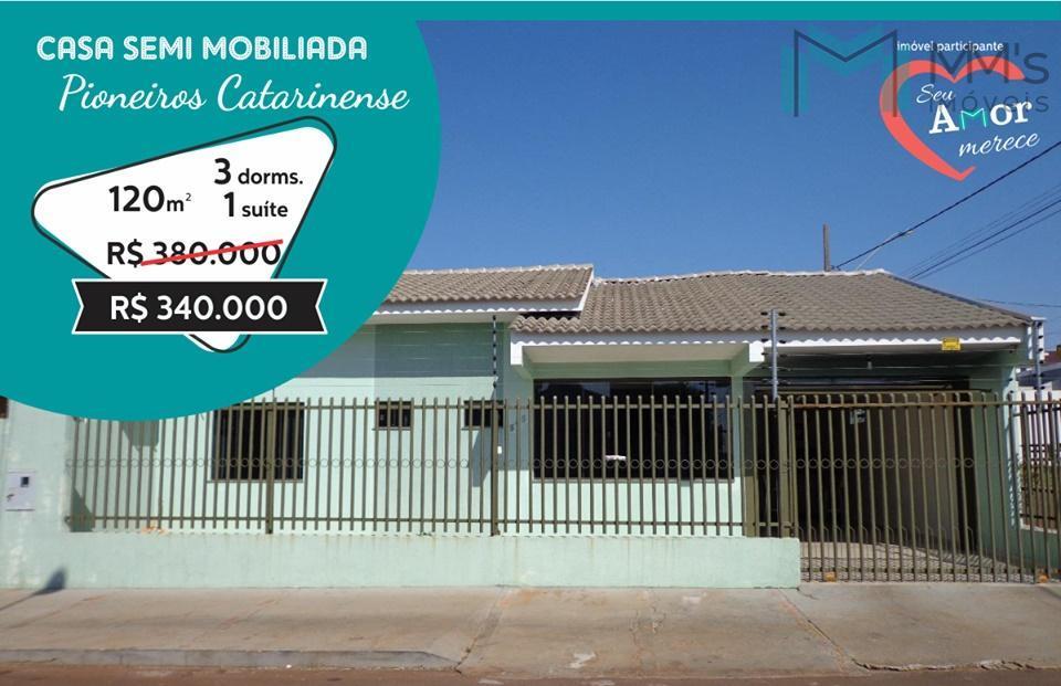 Casa semi-mobiliada, suíte + 02 quartos no Pioneiros Catarinense, Cascavel/PR