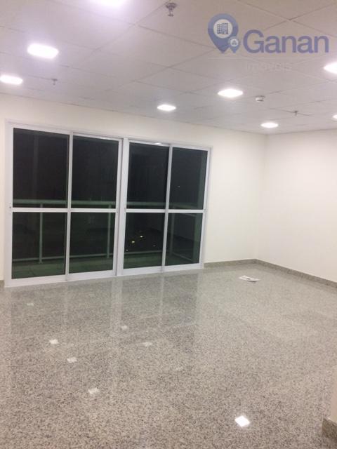 Sala comercial com piso de granito para venda e locação, Alto da Boa Vista, São Paulo.