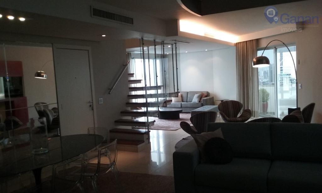 Locação Cobertura Duplex, 2 dormitórios, Mobiliado