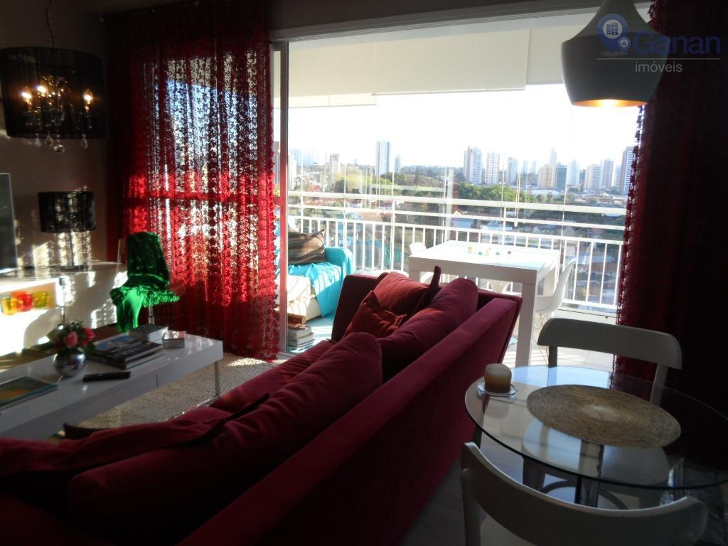 Apartamento 64m2 1 suite, com ar condicionado  para locação, Chácara Santo Antônio (Zona Sul), São Paulo.