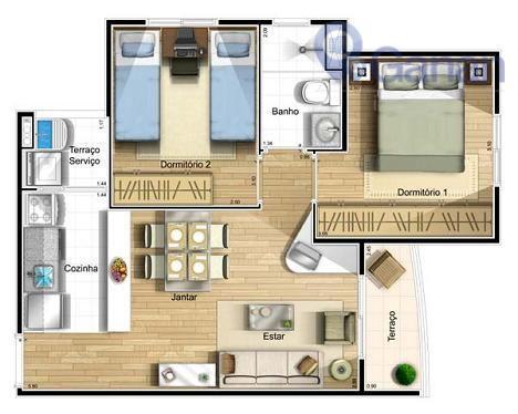 excelente cobertura duplex, piso inferior com 2 dormitórios, sala 2 ambientes, terraço, cozinha, área de serviço...