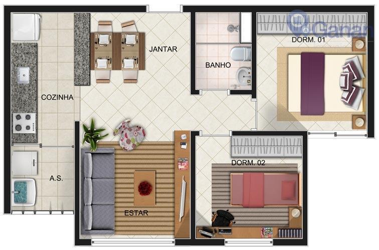Apartamento com 2 dormitórios para alugar, 84 m² por R$ 2.200/mês - Jabaquara - São Paulo/SP