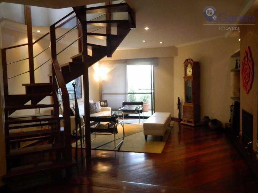 ótima cobertura no brooklin, com 354 m², sala de jantar e sala de estar com varanda,...
