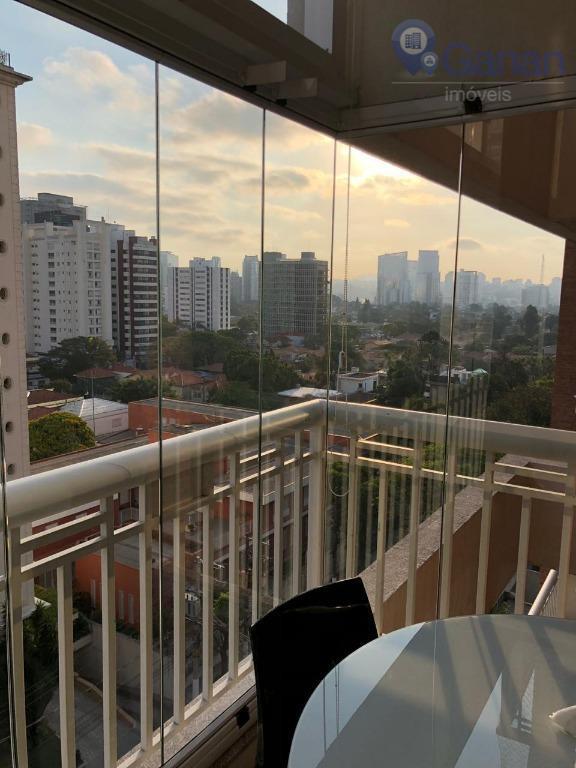 Apartamento Duplex, 105 m2, 02 Suítes com sacada no Brooklin