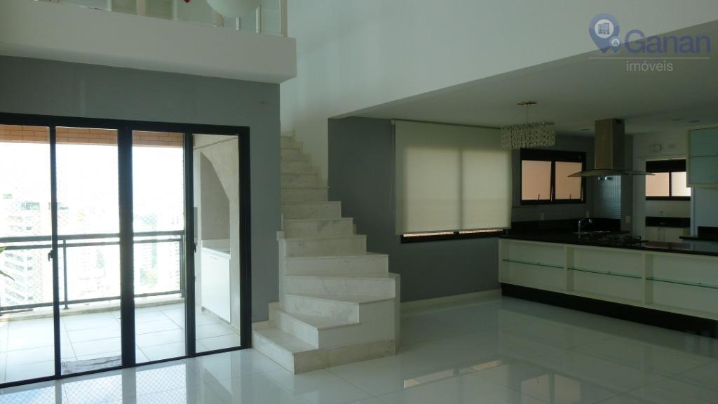 Apartamento com 3 dormitórios para alugar, 184 m² por R$ 5.500/mês - Vila Andrade - São Paulo/SP