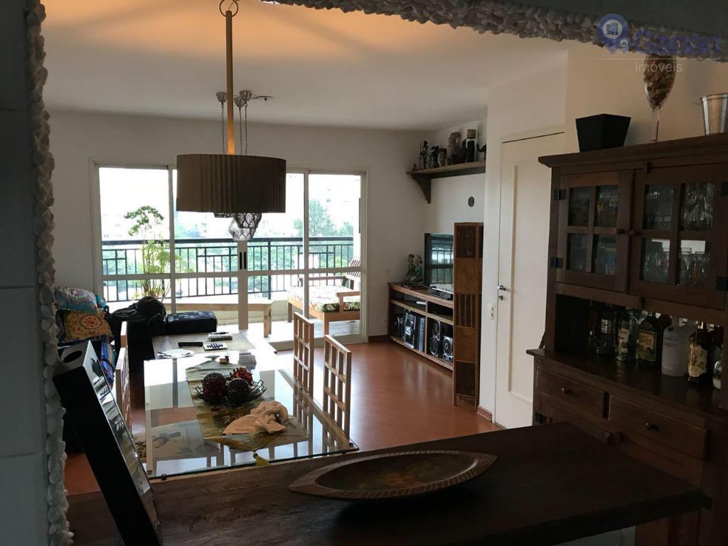 Apartamento totalmente mobiliado para alugar, 97 m² por R$ 4.000/mês - Chácara Santo Antônio (Zona Sul) - São Paulo