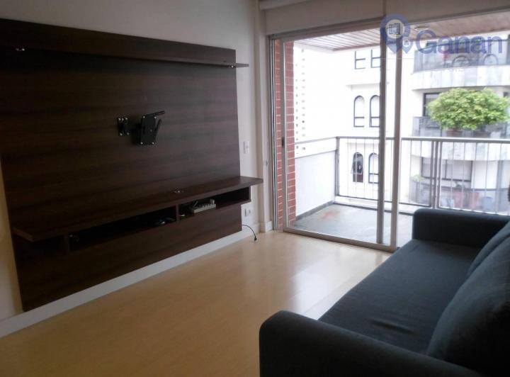 Apartamento com 1 dormitório para alugar, 64 m² por R$ 2.200/mês - Moema - São Paulo/SP
