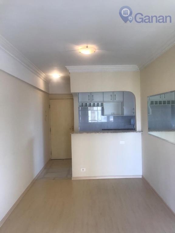 Apartamento com 1 dormitório para alugar, 45 m² por R$ 1.725/mês - Campo Belo - São Paulo/SP