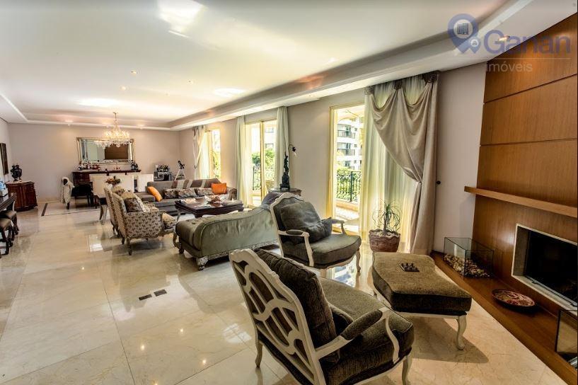 Apartamento com 4 dormitórios para alugar, 330 m² por R$ 22.500/mês - Campo Belo - São Paulo/SP