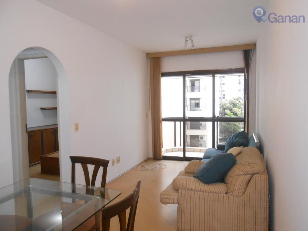 Apartamento com 1 dormitório para alugar, 41 m² por R$ 2.500/mês - Moema Pássaros - São Paulo/SP