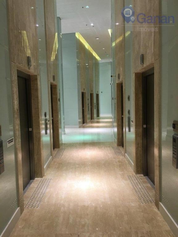 excelente sala comercial com 48 m² aproximadamente, vão livre, 01 banheiro, sacada e 01 vaga, porta...