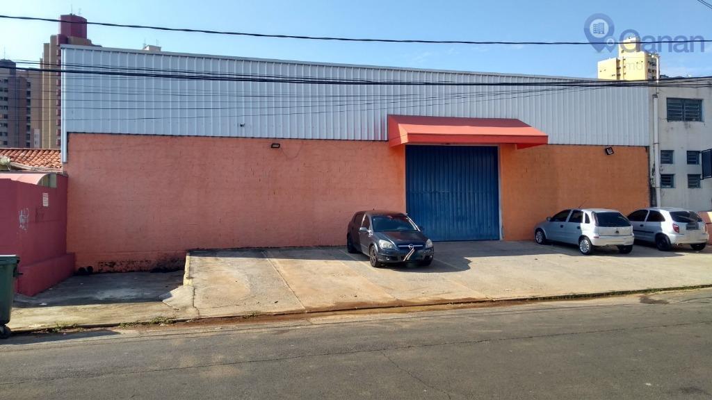 GALPÃO/SALÃO COMERCIAL PARA LOCAÇÃO 5 VAGAS FRONTAIS DOCA PÉ DIREITO ALTO GUANABARA CAMPINAS ZONEAMENTO ZC4.