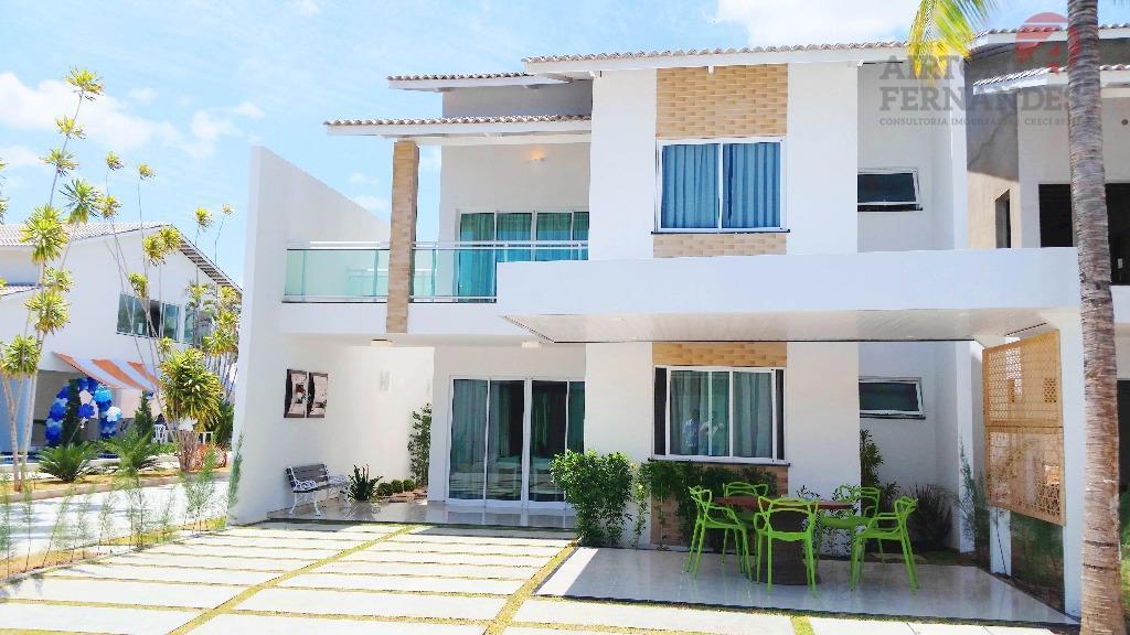 Casa duplex em condominio de alto padrao no Eusébio, com 04 suites, amplo quintal e area de lazer completa