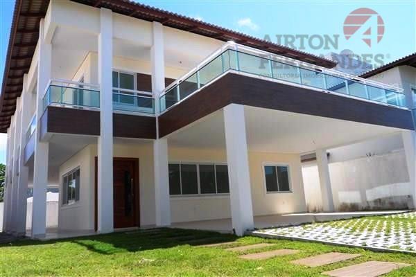 Duplex no Alphaville Eusébio, 4 Suites, 6 Vagas, Hidromassagem, Dependencia de Empregada