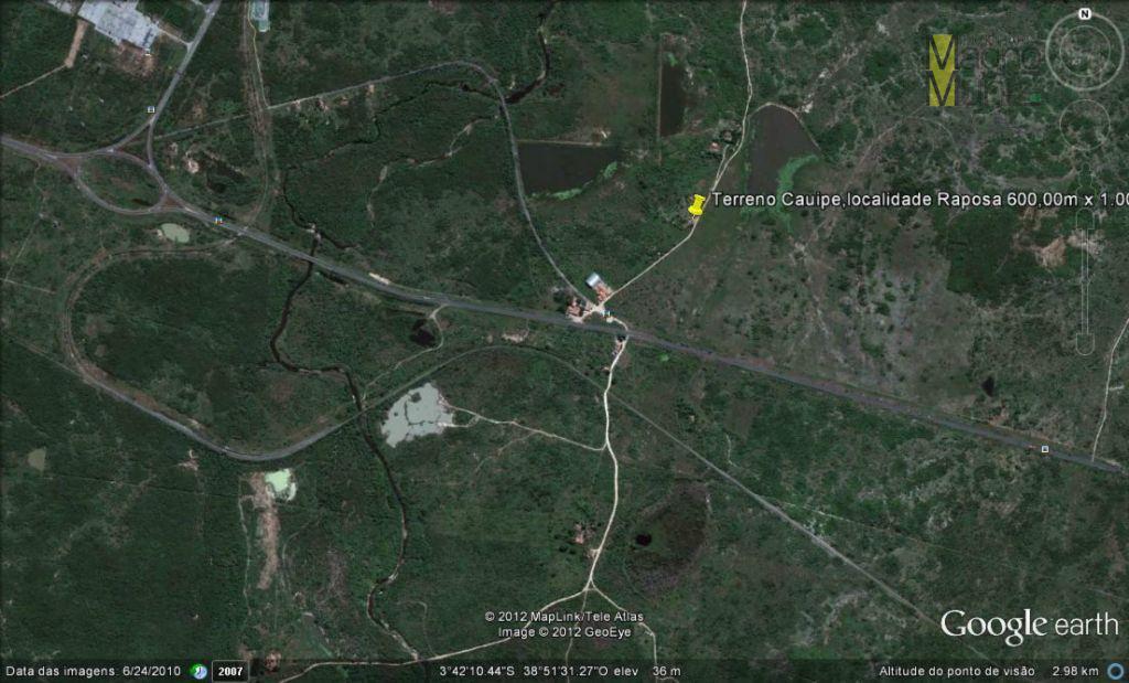 Terreno rural à venda, Centro, Caucaia - Terreno no Cauípe 58,2 Hectares.