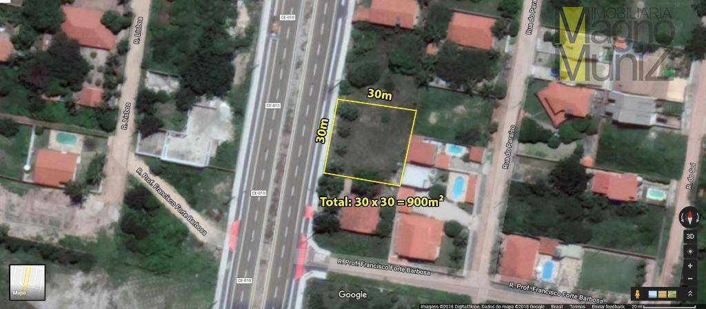 Terreno à venda, 900 m² por R$ 300.000 - Precabura - Eusébio/CE