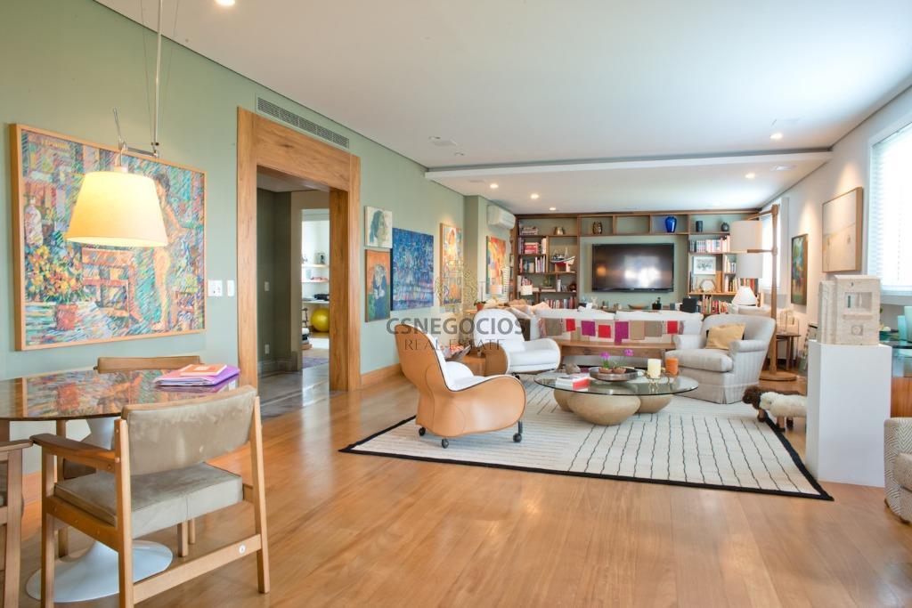 apartamento em condominio luxuoso com vista eterna para o pq villa lobos oportunidade! 364m2 3 suites 4 vagas