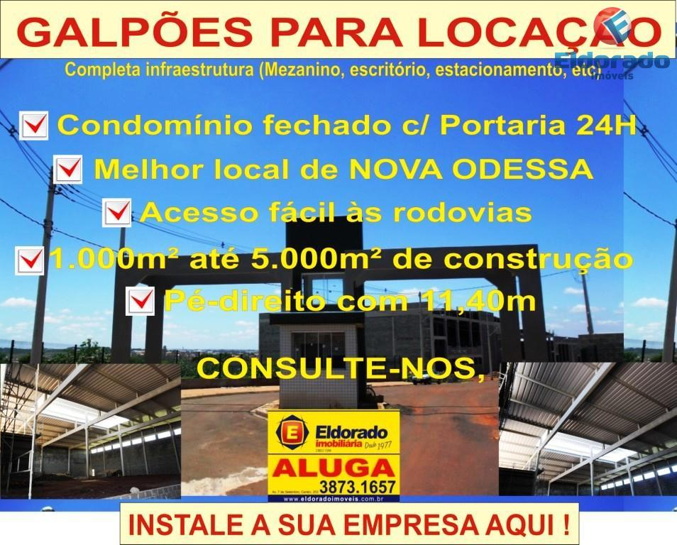 Galpão Industrial para locação, Jardim Santa Rosa, Nova Odessa - GA0072.