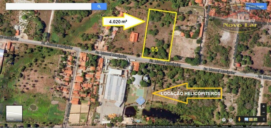 Terreno  comercial para venda e locação, Sabiaguaba, Fortaleza.