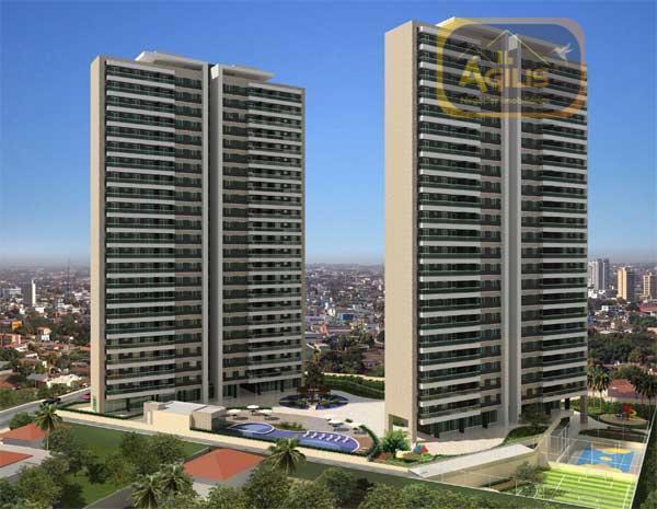 Apartamento residencial à venda, Fátima, Fortaleza - AP0184.