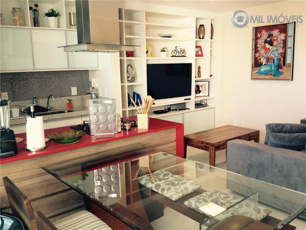 apartamento no 8° andar, vista permanente para o shopping colinas e urbanova. porcelanato 60/60 e móveis...