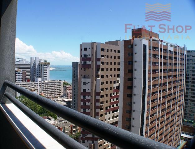 Flat um quarto,locação por temporada no  Meireles, Fortaleza.
