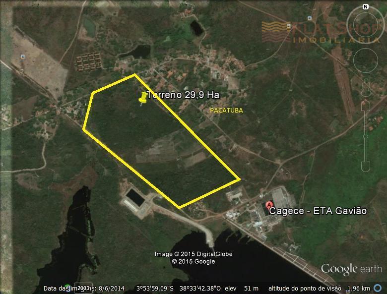 Terreno à venda, Zona Rural, Pacatuba.