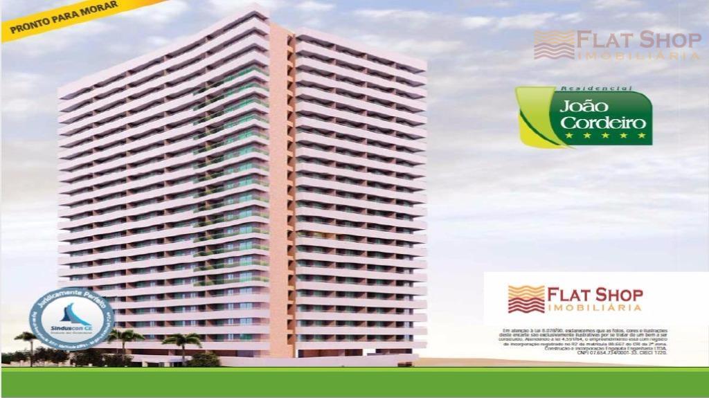 Apartamento residencial à venda, Aldeota, Fortaleza. João Cordeiro, 3 quartos, vista mar, 2 vagas de garagem