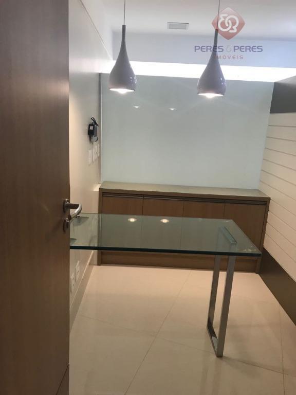 sala no ctc, prédio comercial de alto padrão toda mobiliada, r$ 2.100, já com condomínio e...