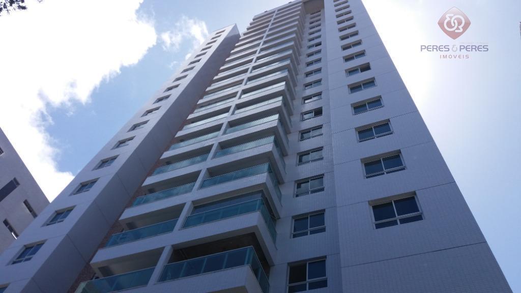 Apartamento com 3 dormitórios para alugar, 98 m² por R$ 2.800/ano - Petrópolis - Natal/RN