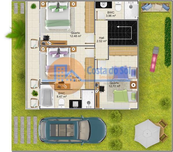 excelente casa triplex 03 suítes. ótimo padrão e localidade, no bairro chácara mariléa !são 03 quartos,...