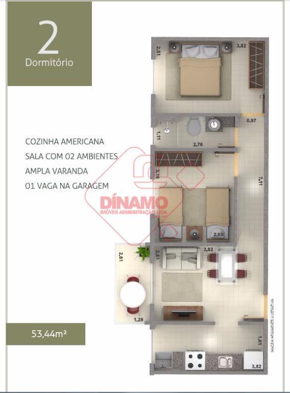 Apartamento à venda, Residencial e Comercial Palmares, Ribeirão Preto.