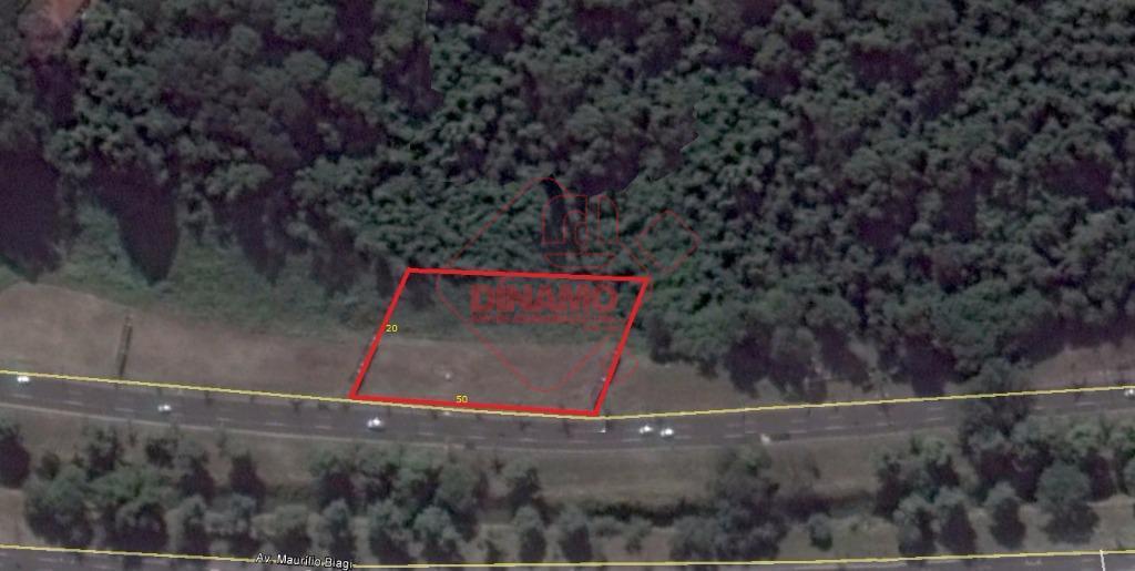 terreno comercial 50 x 20 = 1000 m².