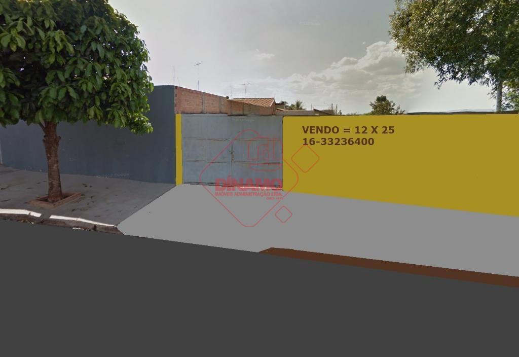 terreno plano, murado, medindo 12 x 25 = 300 m2. aceita financiamento.
