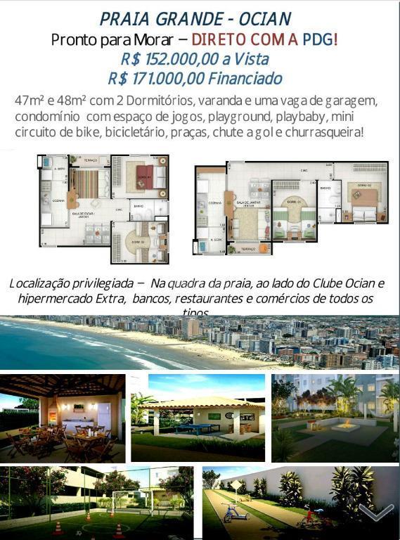 Apartamento residencial à venda, Balneário Japura, Praia Grande.