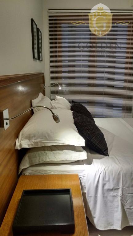 apartamento um dormitório, mobiliado, todo refeormado. lindo, lindo. vista maravilhosa. estilo flat com vaga de garagem....