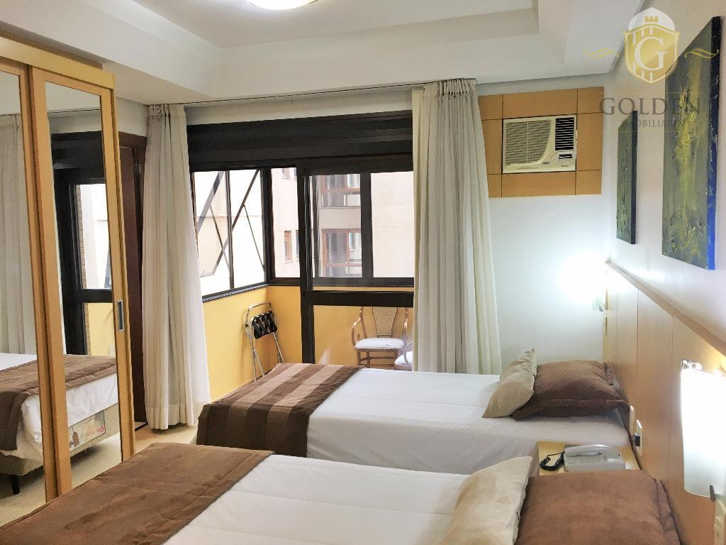 apartamento, mobiliado, estilo estúdio. ambientes integrados. tv a cabo e internet . dois aparelhos de tv....