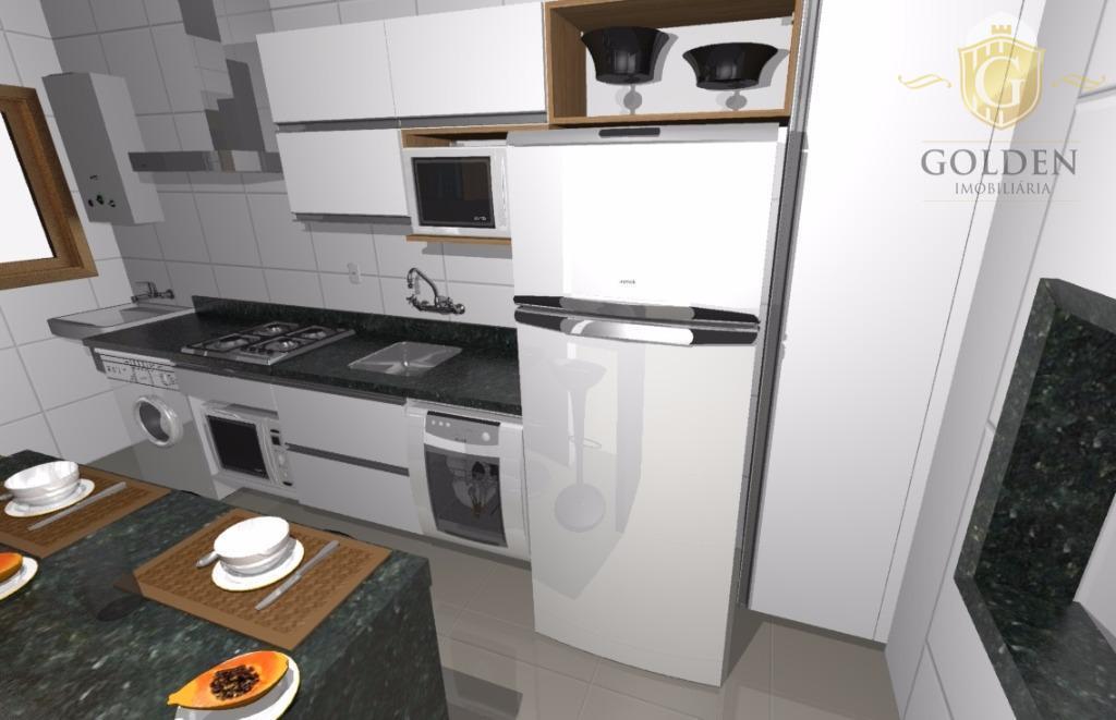 Apartamento de 2 dormitórios com terraço e vaga de garagem no  bairro Jardim Botânico