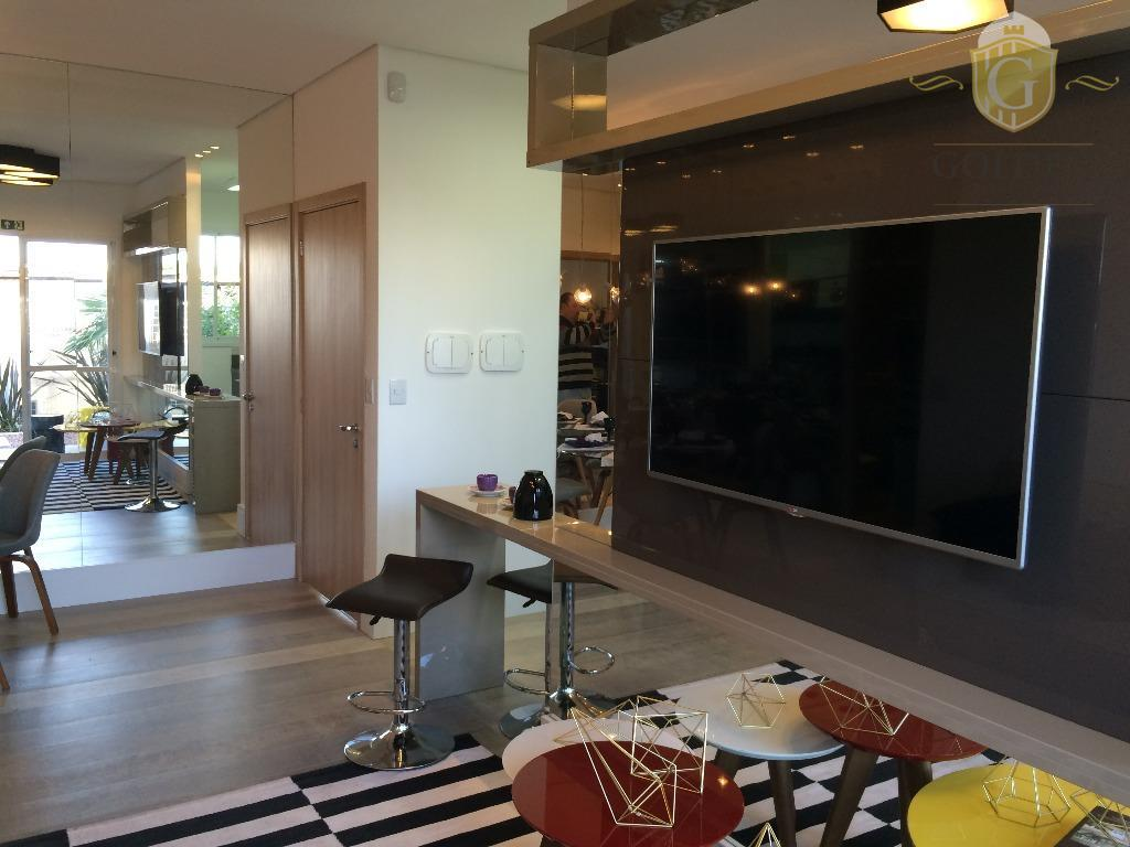 Apartamento mobiliado no Ecco Villaggio em Canoas de 2 dormitórios com vaga.